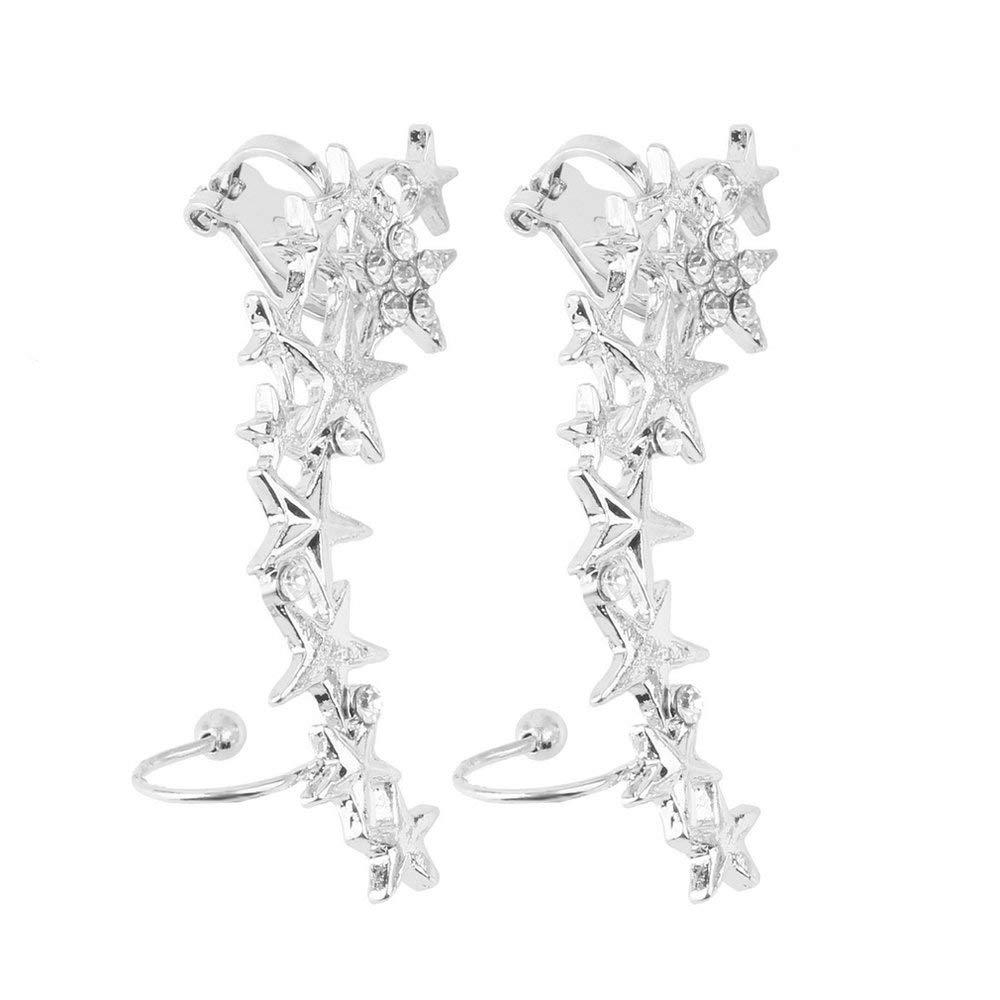 1 Par de Clip de Hueso de Oído Estrella de La Manera en Ear Cuff Pendientes No Pierce Pierce Promotion Wedding Accessories