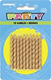Image of Spiral Gold Birthday Candles, 10ct