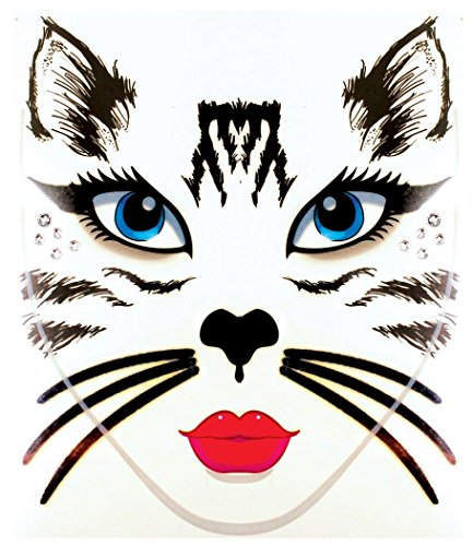 Morris Costumes - Face Decal Cat - Standard