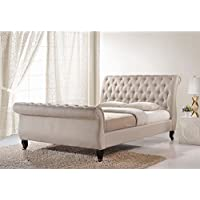 Baxton Studio Antoinette Modern Platform Bed, Queen, Light Beige