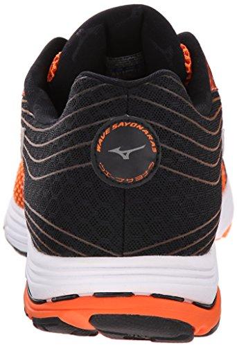 Mizuno Mens Wave Sayonara 3 Running Shoe Vibrant Orange/Silver QBAwMQ
