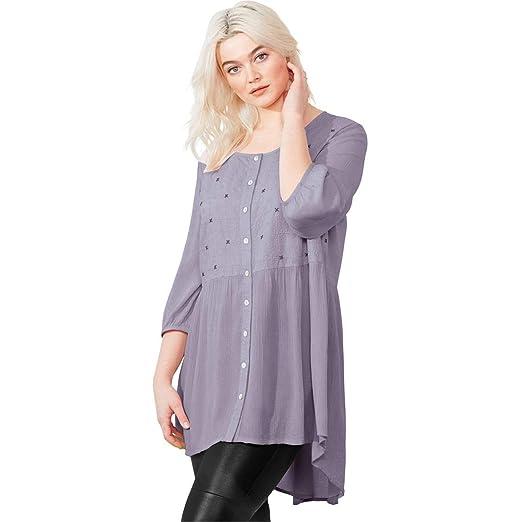 8fecd06b6d4 Ellos Women s Plus Size Petal Tunic at Amazon Women s Clothing store