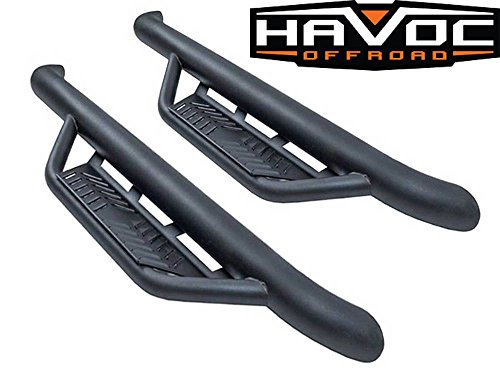 Havoc Offroad HPG-46-20004 HS2 Black Hoop Steps (2007-2018 Jeep Wrangler JK 2 Door Only Nerf Bar)