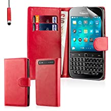 32nd Book wallet PU leather flip case cover for BlackBerry Classic Q20 - Red