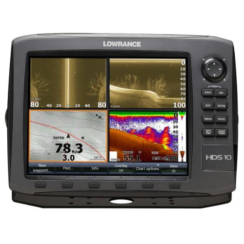 Lowrance HDS-10 GEN2 Plotter/Sounder, with 10.4-inch LCD and Insight USA Cartography. Transducer Not Included.