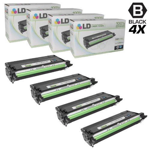 Xerox Remanufactured Toner - LD Remanufactured Toner Cartridge Replacement for Xerox Phaser 6180 113R726 High Yield (Black, 4-Pack)