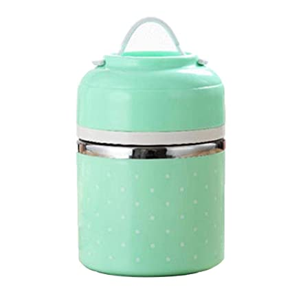 38ec5ec0c2b0 Amazon.com: GoodKE Stainless Steel Thermal Lunch Box Outdoor Camping ...