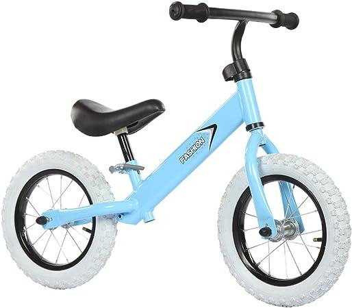 RR-Bike Bicicleta De Equilibrio Ajustable para Niños, Sin Entrenamiento con Pedales Bicicleta para Niños De Edades 1,2,3,4,5,6 Niños Pequeños Andando En Bicicleta Bicicletas De Equilibrio,Blue: Amazon.es: Hogar