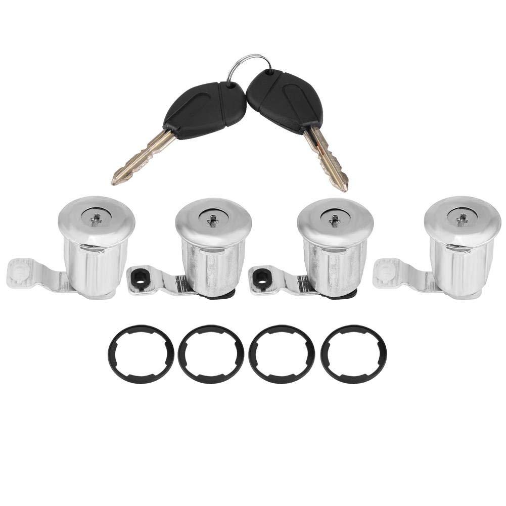 4 * Barrels # 2 KIMISS 1 Juego de Barriles de bloqueo de puertas de autom/óvil con llaves para 1996-2007