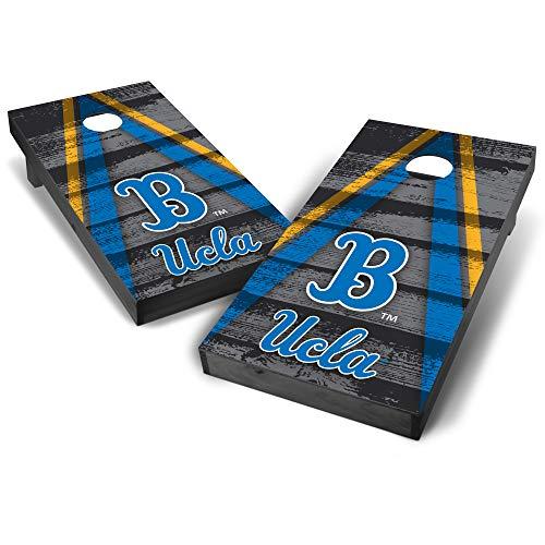 Wild Sports NCAA College UCLA Bruins 2' x 4' Grey Authentic Cornhole Game Set - Vintage Triangle Design