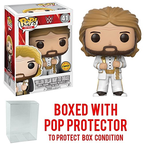 Funko Pop! WWE Million Dollar Man Ted Diabase CHASE VARIANT Vinyl Figure (Bundled with Pop BOX PROTECTOR CASE) by Pop Protector