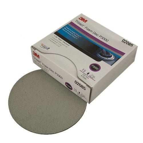3M 02085 Trizact Hookit 6'' P3000 Grit Foam Disc (Pack of 4) by 3M (Image #1)