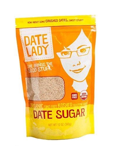 Date Lady DATESUGAR12OZ Organic Sugar