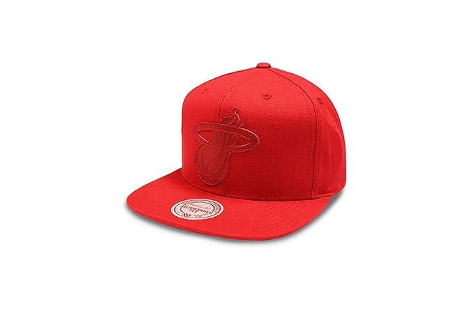 bad984a0efd32 Mitchell   Ness Cap - NBA Miami Heat