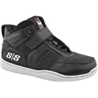 Speed and Strength Run With the Bulls 2.0 Men's Moto Leather Shoes (Black, Size 12)