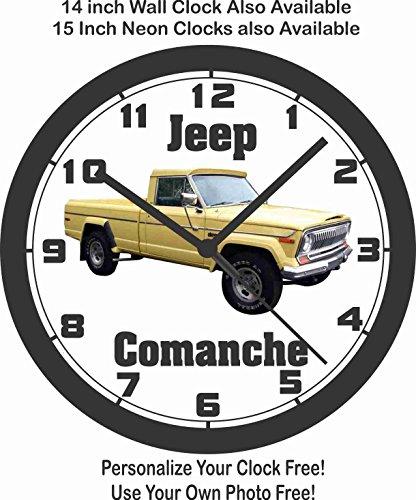 JEEP COMANCHE PICKUP TRUCK WALL CLOCK-FORD, DODGE, - Jeep Pickup Comanche