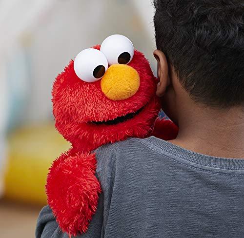 "51Mj7GLZiDL - Sesame Street Love to Hug Elmo Talking, Singing, Hugging 14"" Plush Toy for Toddlers, Kids 18 Months & Up"