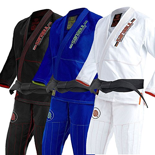 Sanabul Highlights Professional Competition BJJ Jiu Jitsu Gi (White, A3)