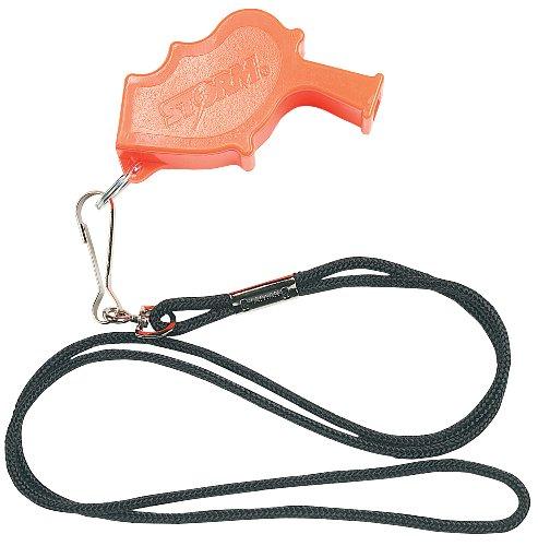 Markwort Storm Safety Whistle (Orange) with 19-Inch Black Lanyard