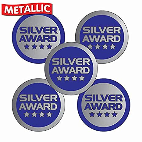 Gold Primary Teaching Services Red and Gold Metallic Gold Award Sticker 25 Millimetres x 210