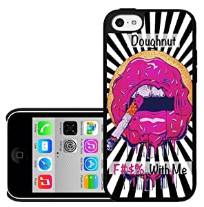 Doughnut Mouth with Cigarette Hard Snap on Phone Case (iPhone 5c)