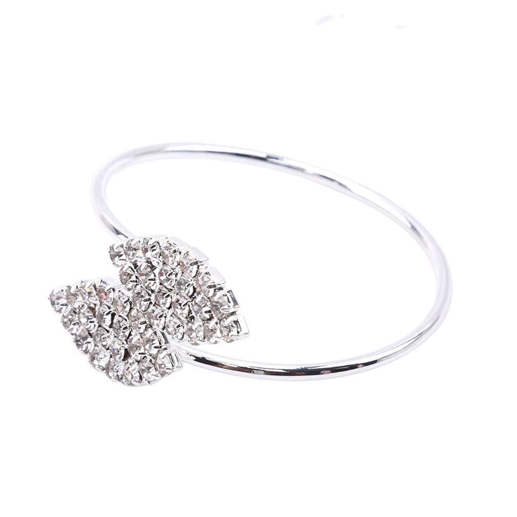 Tcplyn  Crystal Napkin Ring Wrap Wedding Banquet Holder Dinner Party Home Decoration,Silver