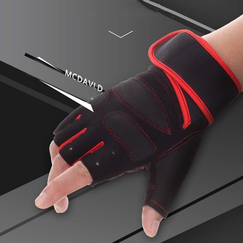LIOOBO 1 Pair Anti Slip Weight Lifting Gloves Sport Fitness Training Gloves for Women Men Power Lifting Gym Training