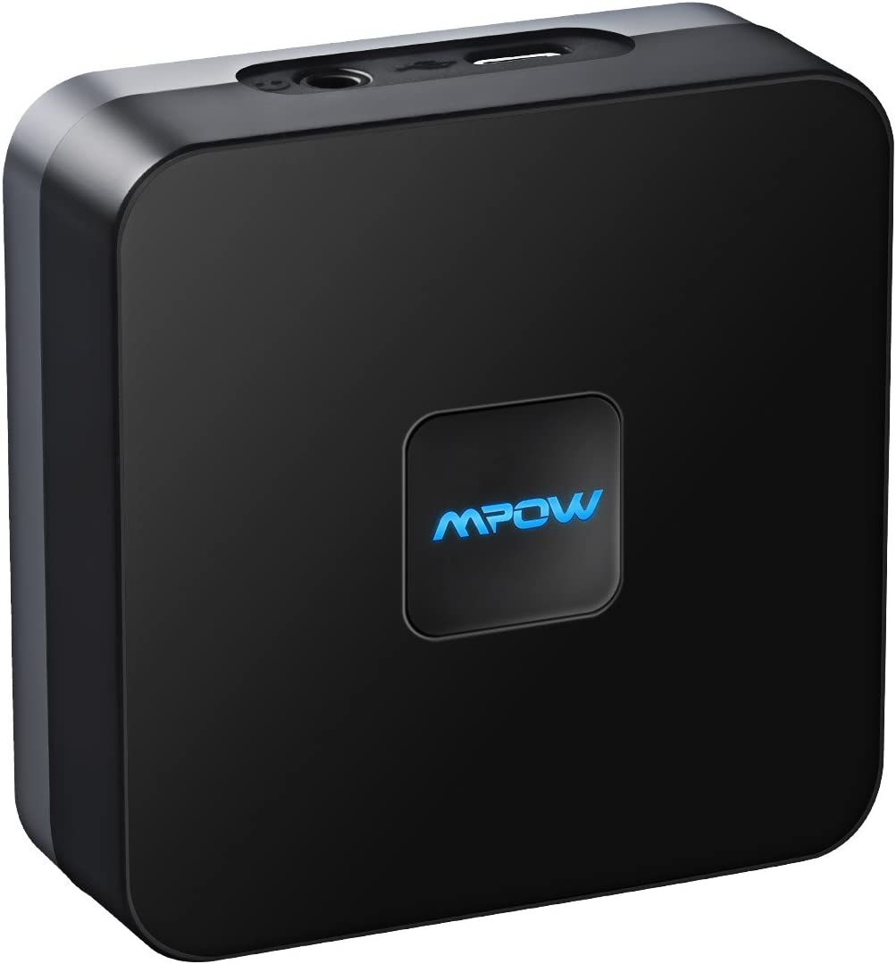 Mpow Bluetooth 5.0 Receiver, Bluetooth Audio Adapter for Music Streaming Sound System with High-Fidelity, 3.5mm AUX & RCA Wireless Audio Adapter for Home Old Non-Bluetooth Speakers,A/V Receivers
