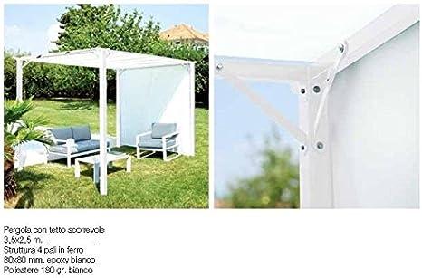 Cenador Pergola con tejado deslizante 3, 5 x 2, 5 metros: Amazon.es: Jardín