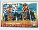 Buster Posey and Madison Bumgarner baseball card (San Francisco Giants) 2015 Topps #US21 Silver Slugger Award