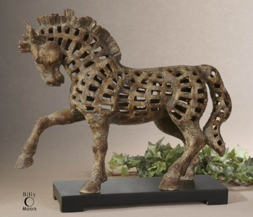 Billy Moon Prancing Horse Sculpture by The Uttermost Company
