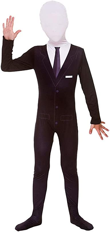 Suit Only No Mask For Halloween Kids of All ages Boys Slenderman Costume Suit