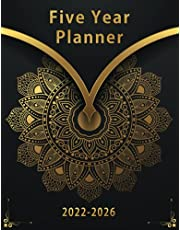 2022-2026 Five Year Planner: 5 Year Appointment 60 months Calendar, Business Planners, Agenda Schedule Organizer Logbook and Journal with Mandala Matt Cover for Long term Plan Tracking