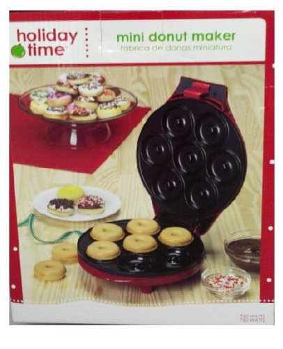 holiday time mini donut maker. Black Bedroom Furniture Sets. Home Design Ideas