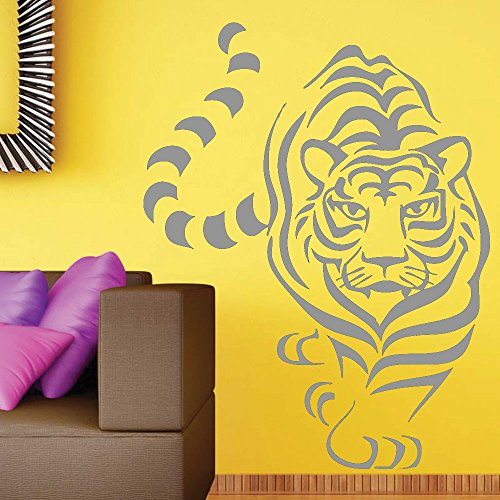(Prowling Tiger Nature Wall Vinyl Living Room Sticker Easy Peel & Stick Decal)