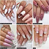 Dipping Powder Nail Kit with 6 Colors White