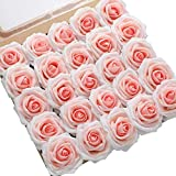 DerBlue 60pcs Artificial Roses Flowers Real Looking