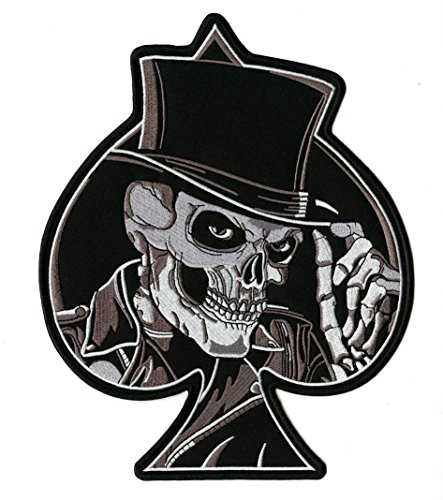 Skull With Top Hat - Skeleton Spade Top Hat Large Skull Embroidered Patch- By Nixon Thread Co. (10