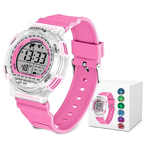 Kids Sport Digital Watches, Boys Girls Outdoor 50m Waterproof Electrical Wristwatch with Alarm Stopwatch Reminder for Age 6-16 Child Young Teen