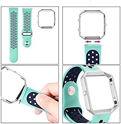 Minzhi Soft-Armband-Ineinander greifen Sport-B/¨/¹Gel-Silikon-Ersatz Blacelet Kette Smart-Eignung-Uhr-Gurt f/¨/¹r Fitbit Blaze