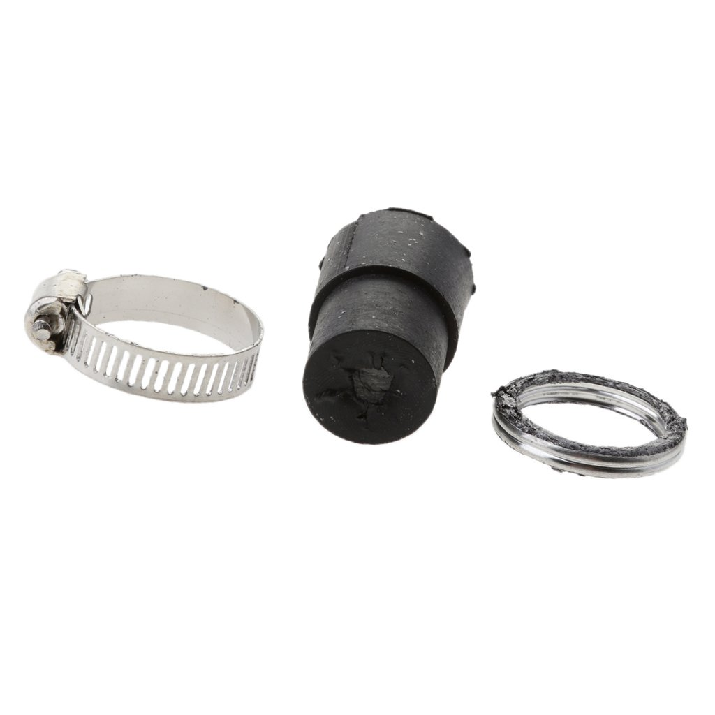 MonkeyJack Exhaust Systems Muffler Pipe Gasket Rubber /& Seal Clamp Kit for Yamaha PeeWee50 PW 50