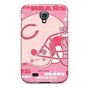 Bumper Hard Cell-phone Case For Samsung Galaxy S4 (dLz7803BvLn) Unique Design High-definition Chicago Bears Skin