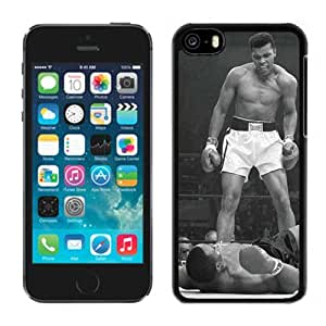 Grace Protactive Iphone 5c Case Design with Muhammad Ali Vs Sonny Liston Black Cell Phone Case for Iphone 5c