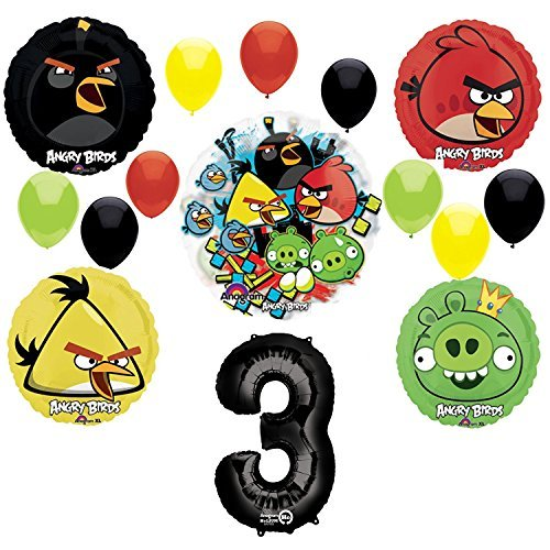Angry Birds 3rd Birthday Party Supplies and Group