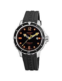 Tissot Men's T0664071705701 SeaStar Black Automatic Dial Watch