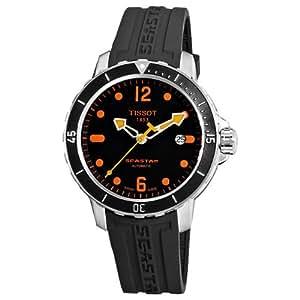 Tissot Men's T0664071705701 SeaStar Black Automatic Dial Watch: Tissot