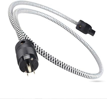 CopperColour CC Power-2 HiFi Teflon Power Cable US Plug OCC for Home Theater 1.8M