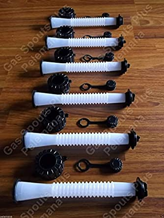 6 New Gas Can Spouts Amp Parts Kits Incl Pouring Nozzles