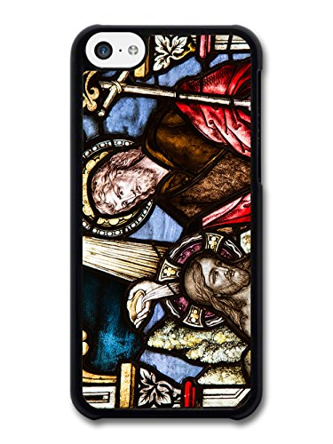 Classic Vintage Stained Glass Windows Cool Goth Christian Jesus case for iPhone 5C