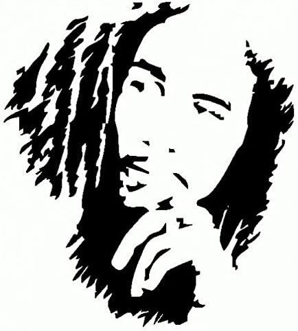 Bob Marley-Vinilo Prespaziato-15 cm-Color negro: Amazon.es: Coche ...